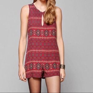 Coincidence & Chance Tribal Print Keyhole Romper 0